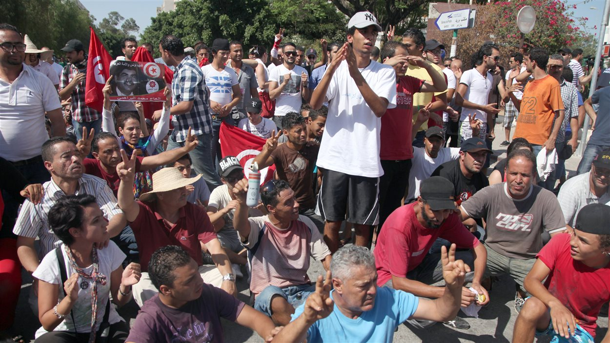 Les manifestants ont commencé samedi leur sit-in près de l'Assemblée.