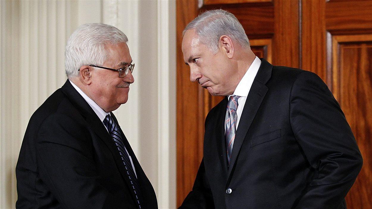 Mahmoud Abbas et Benyamin Nétanyahou
