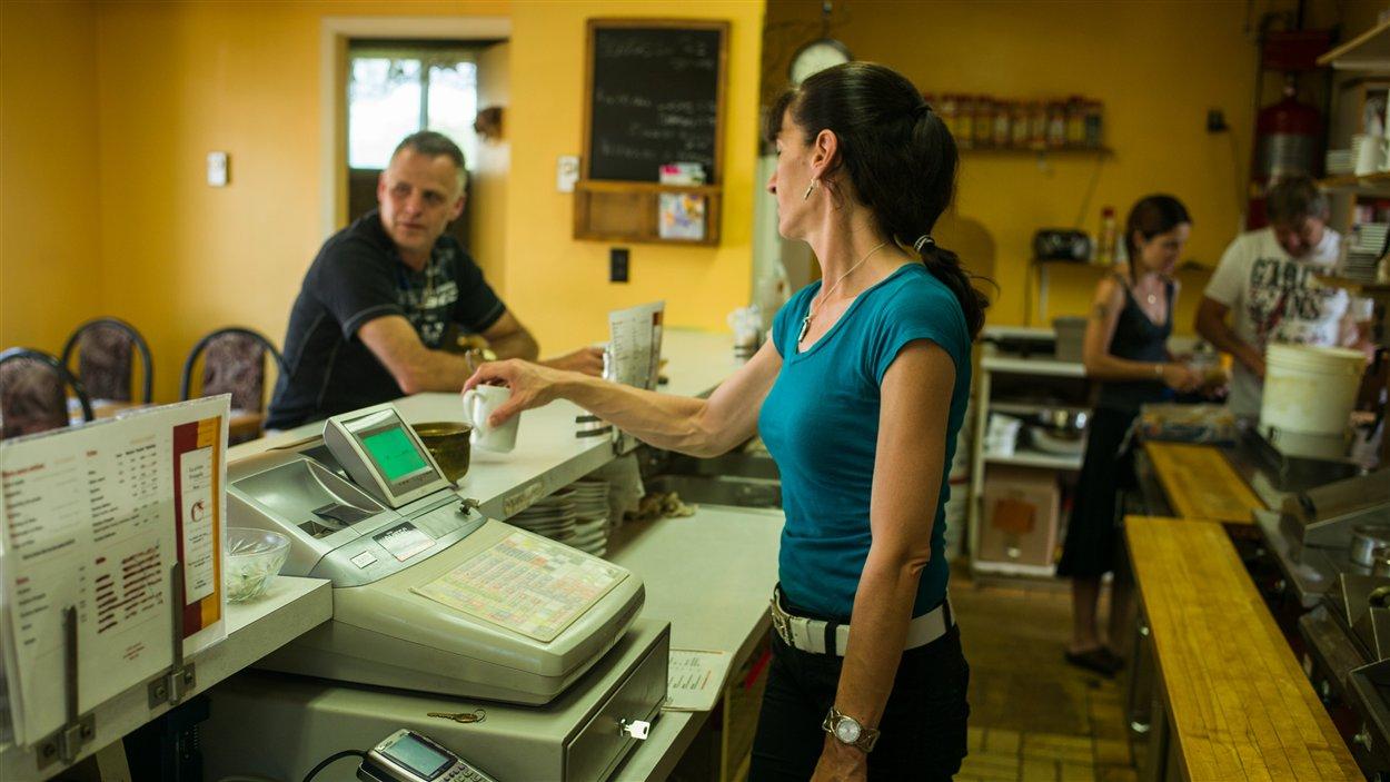 Le restaurant La P'tite Fringale, à Lac-Mégantic, le 12 juillet 2013