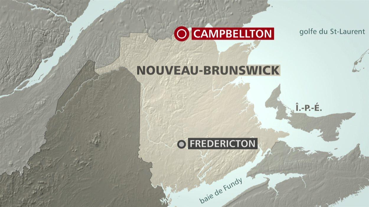 Carte de Campbellton, dans le nord-est du Nouveau-Brunswick
