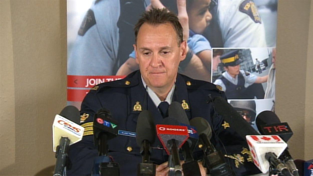 Le sergent Alain Tremblay de la GRC