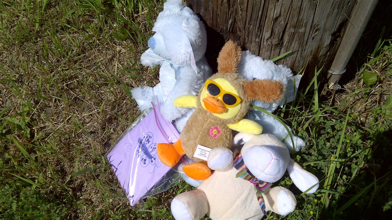 Des peluches laissées près des lieux où les enfants ont été retrouvés morts