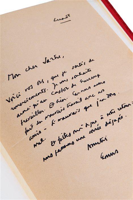 La lettre de Camus à Sartre
