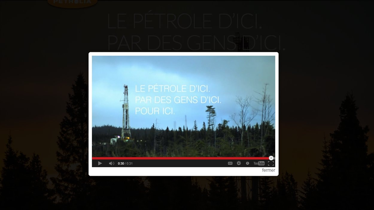 La publicité de Pétrolia est diffusée à la télévision sur les heures de grande écoute pétrole