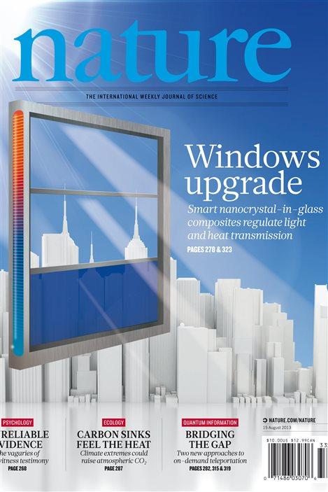 La vitre qui contrôle le flux de lumière et de chaleur fait la « Une de la revue Nature.