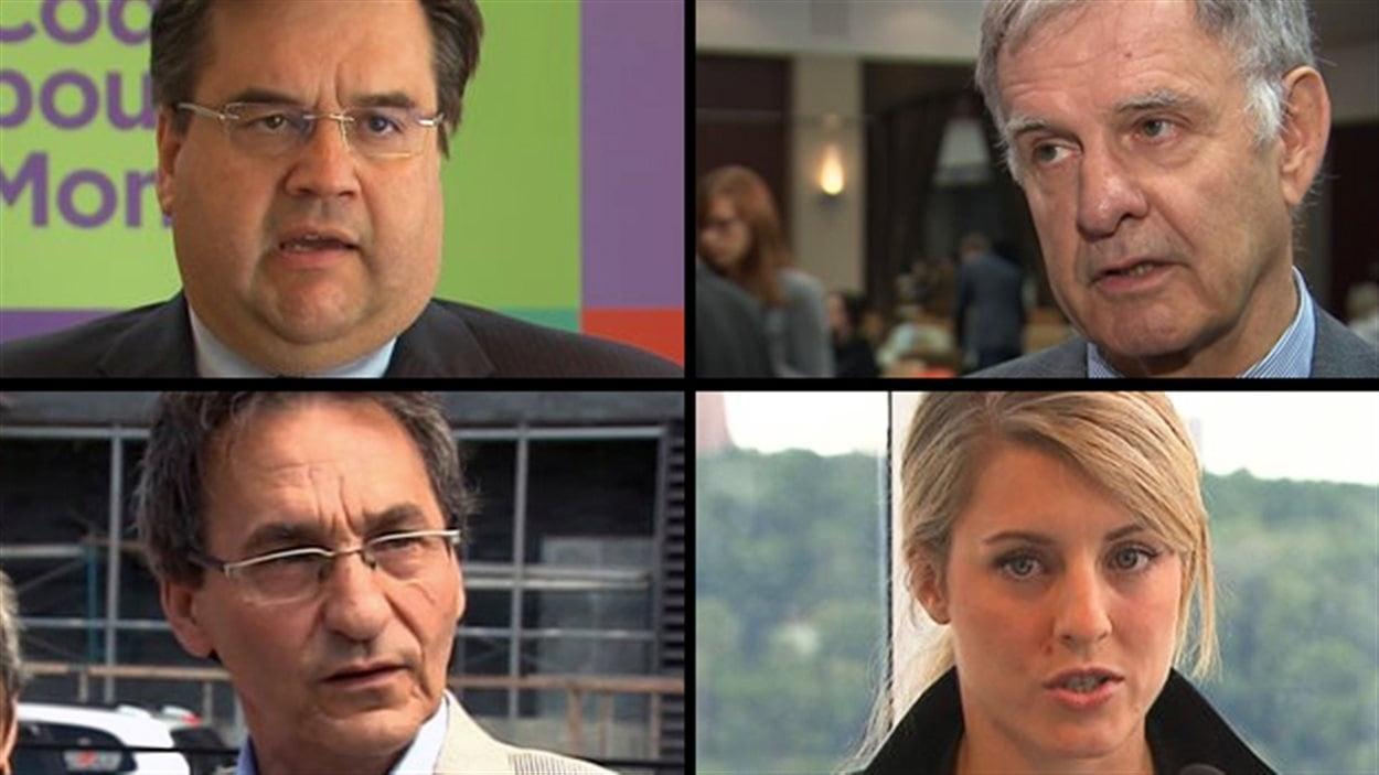 Denis Coderre, Marcel Côté, Richard Bergeron et Mélanie Joly, quatre aspirants maires de Montréal.