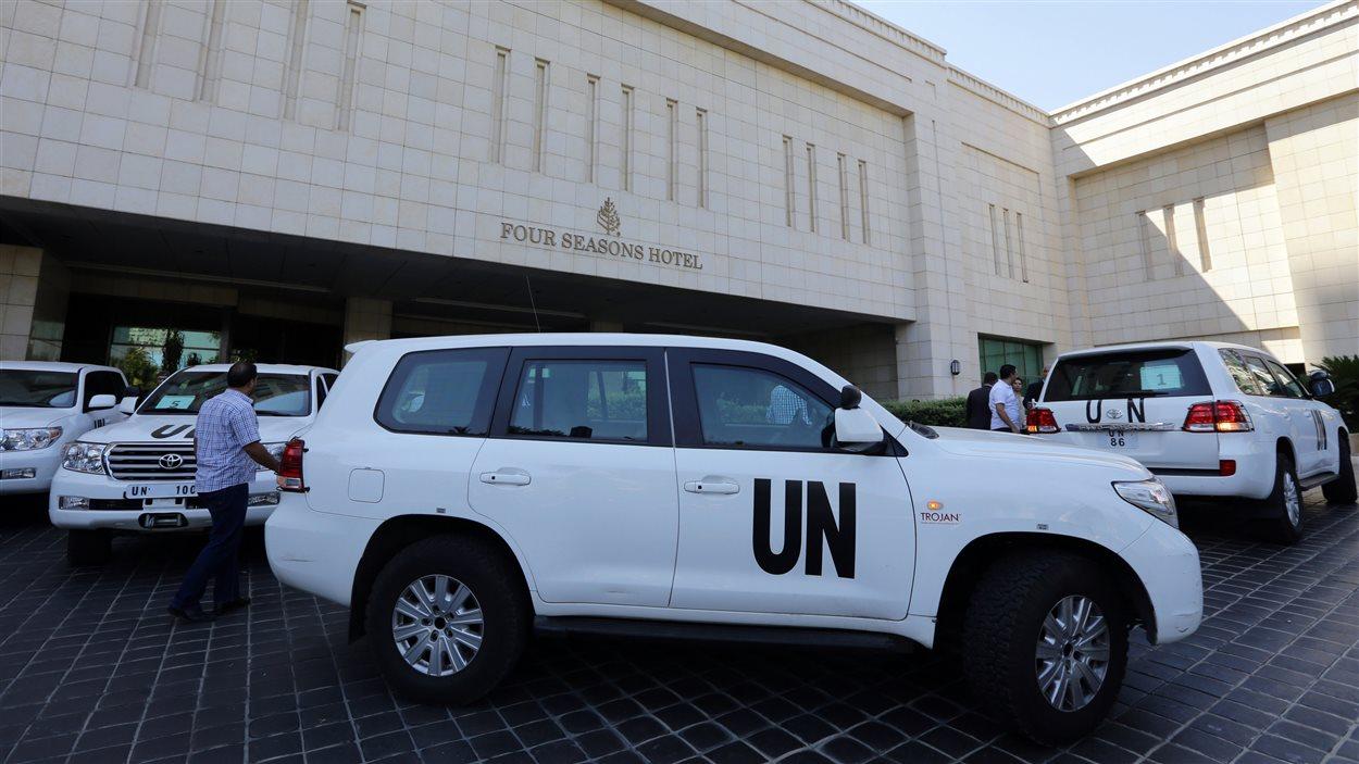 Les inspecteurs de l'ONU sont arrivés à Damas dimanche