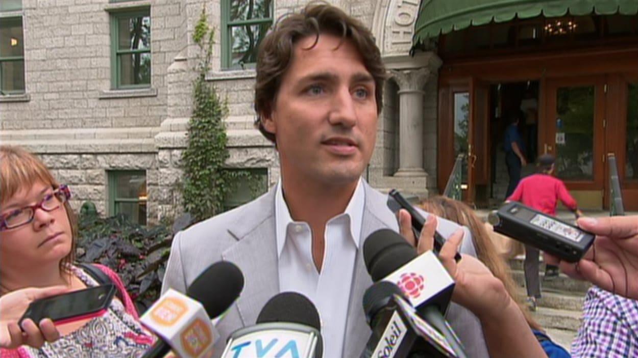 Le chef du Parti libéral du Canada, Justin Trudeau, à Québec, le 22 août