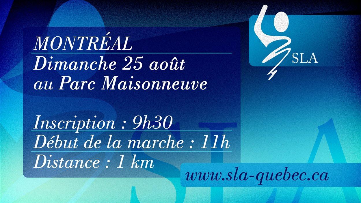 La marche débutera à 9h30, dimanche, au parc Maisonneuve de Montréal.