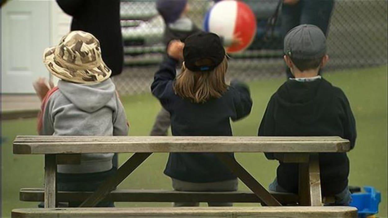 Des enfants dans un service de garde