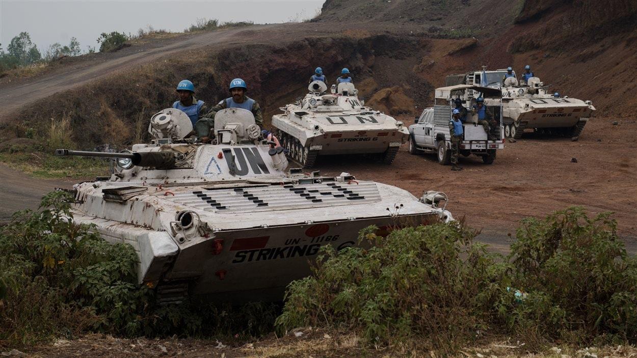 Des blindés de la Monusco en République démocratique du Congo.