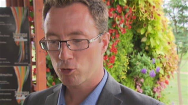 Le conseiller municipal et candidat à la mairie de Bécancour, Karl Grondin