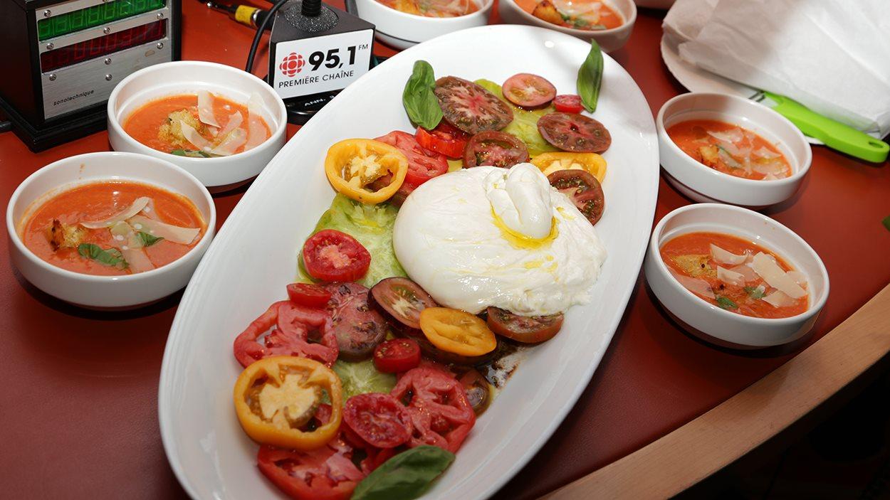 La soupe et le plat de tomates de Caroline Dumas