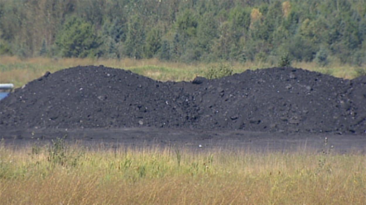 Du charbon utilisé dans une centrale de production d'électricité en Alberta