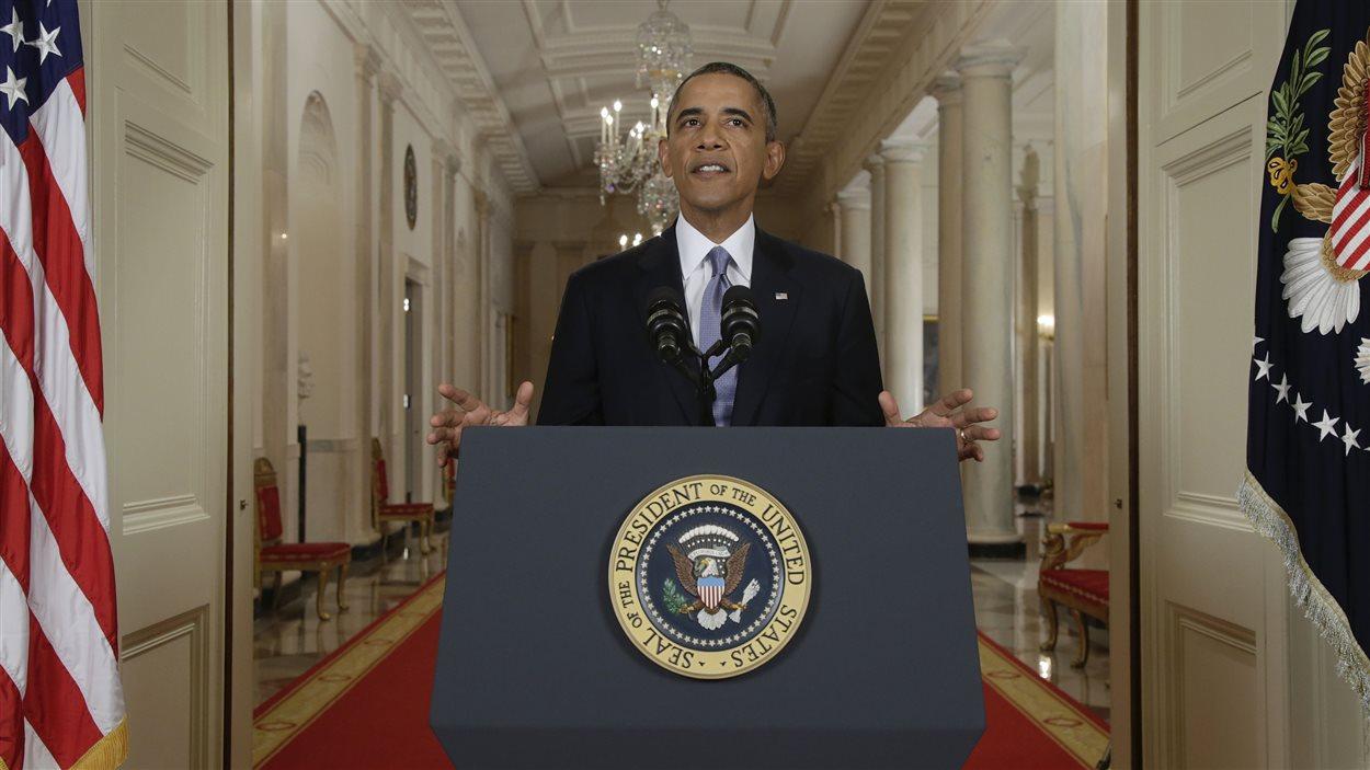 Le président américain Barack Obama lors de son discours à la nation le 10 septembre