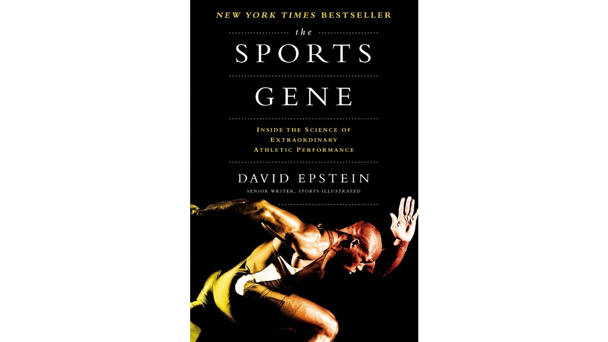 La page couverture du livre <i>The sports gene : inside the science of extraordinary athletic performance</i>, de David Epstein, publié aux éditions Penguin press.