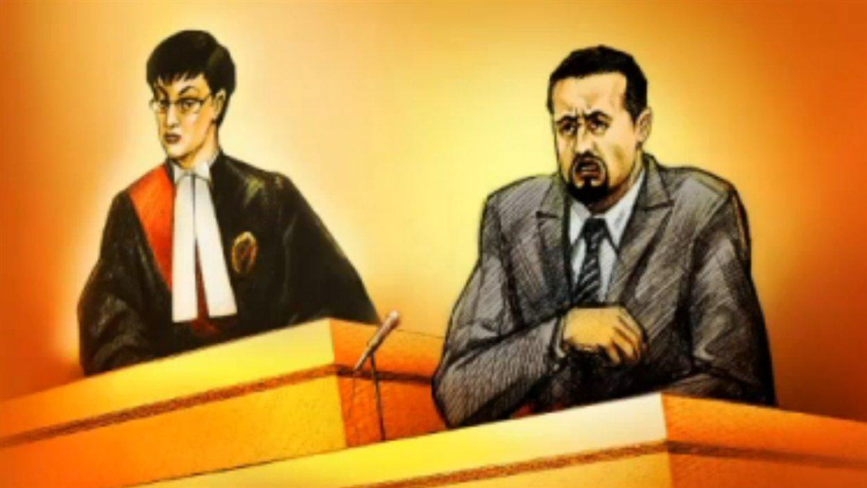 Le policier Babak Andalib-Goortani en cour en juin dernier