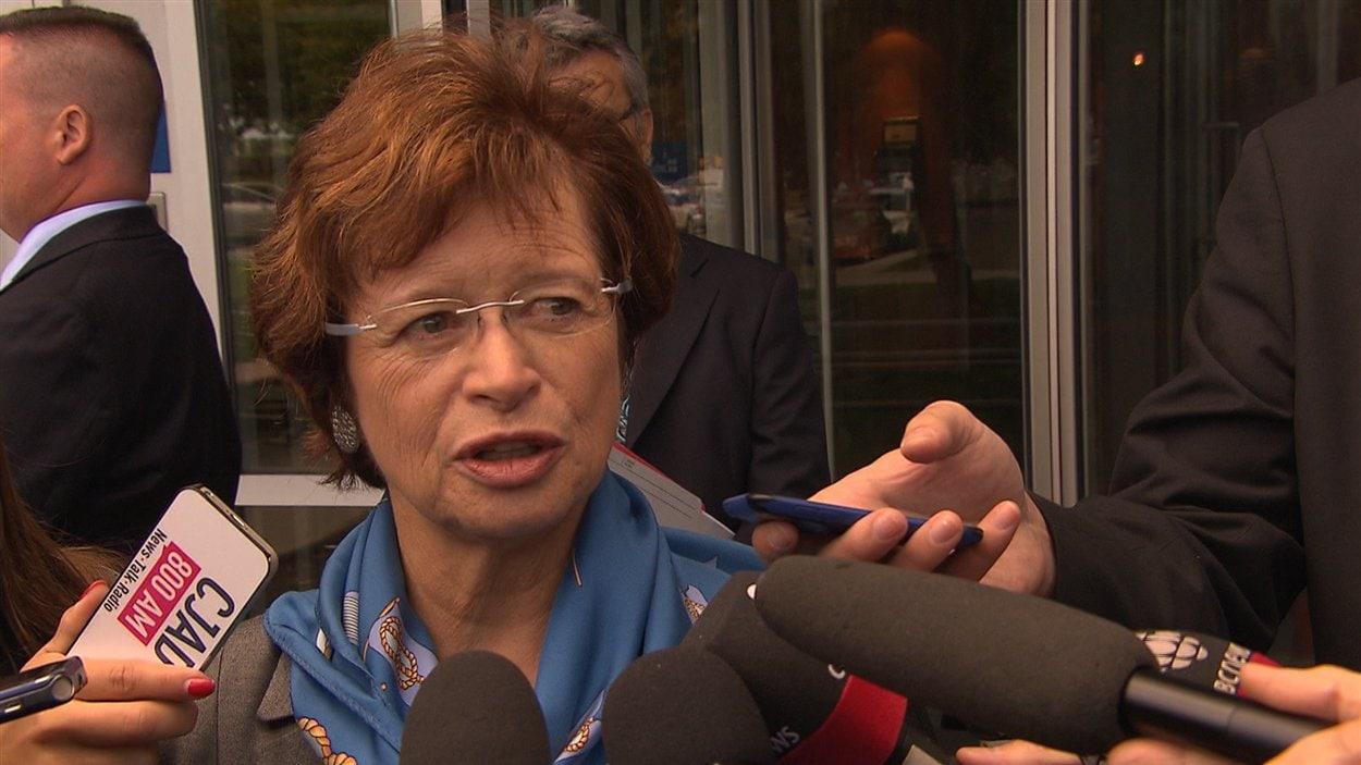 La ministre de l'Éducation du Québec, Marie Malavoy, le 16 septembre, à Montréal