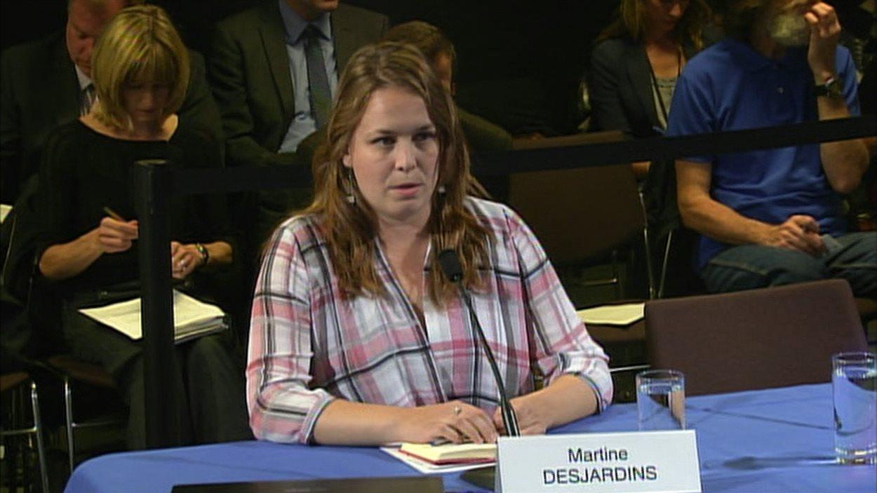 L'ex-présidente de la Fédération étudiante universitaire du Québec (FEUQ), Martine Desjardins
