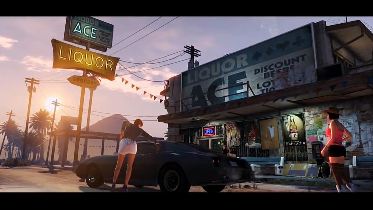 Image tirée de la bande-annonce du jeu vidéo <i>Grand Theft Auto 5</i>.