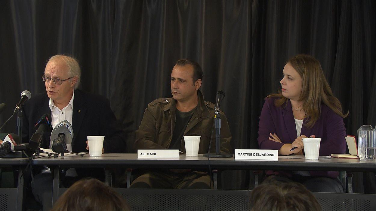 Daniel Baril, Ali Kaidi et Martine Desjardins