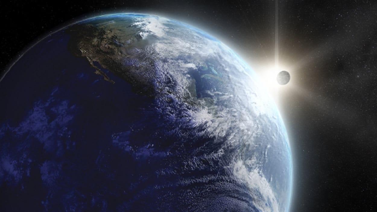 Représentation artistique de la Terre