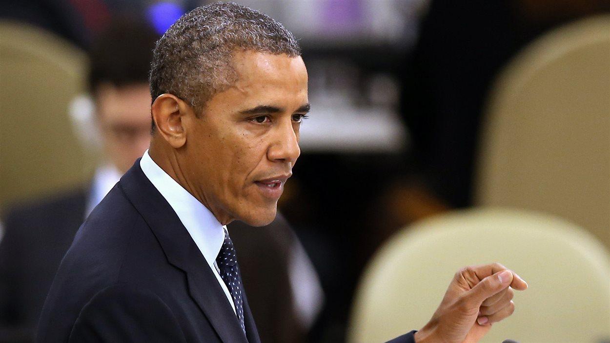 Le président américain Barack Obama lors de son allocution devant l'Assemblée générale de l'ONU