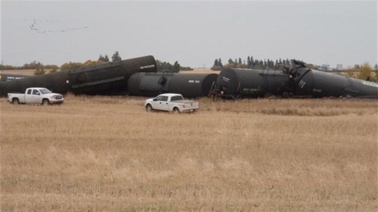 17 wagons ont déraillé.