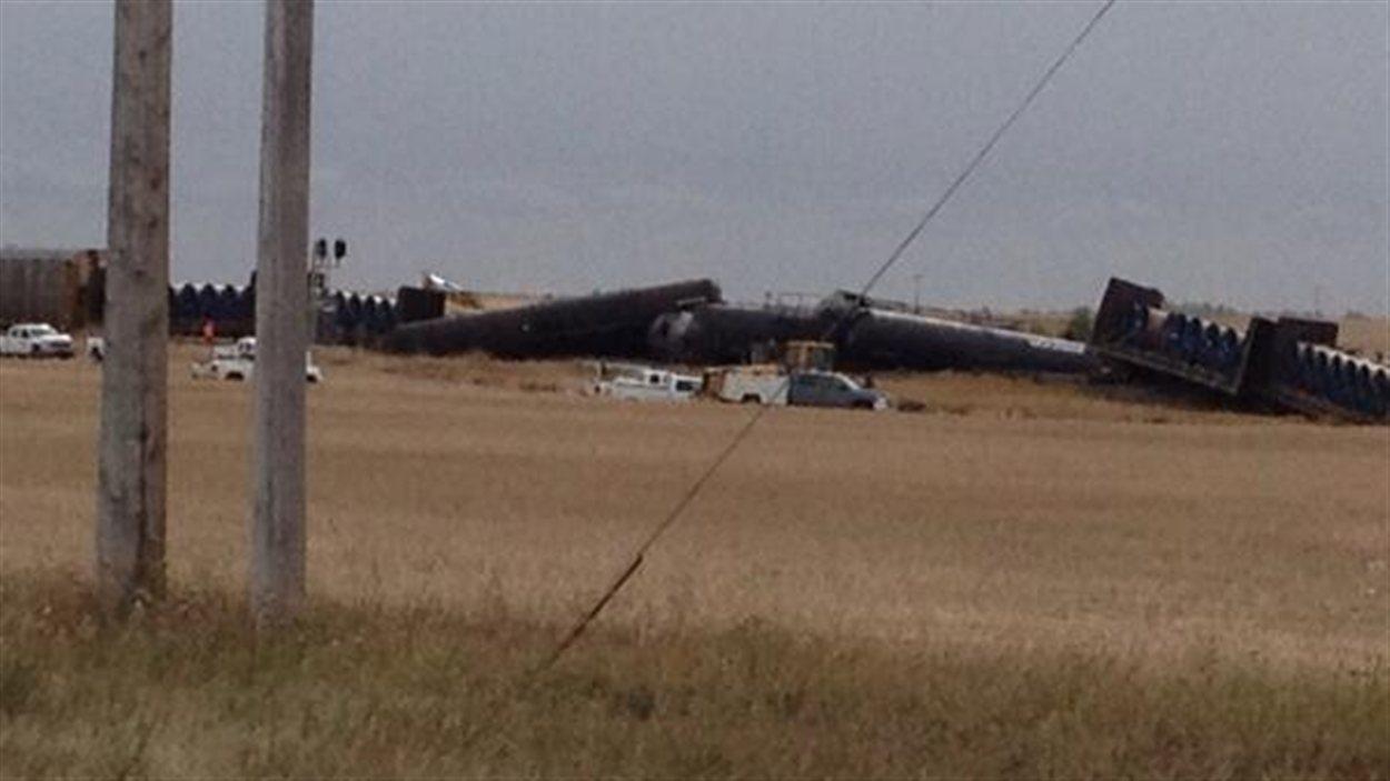 Selon le CN, 17 wagons ont déraillé à 4h15 ce matin près de Landis à l'ouest de Saskatoon.