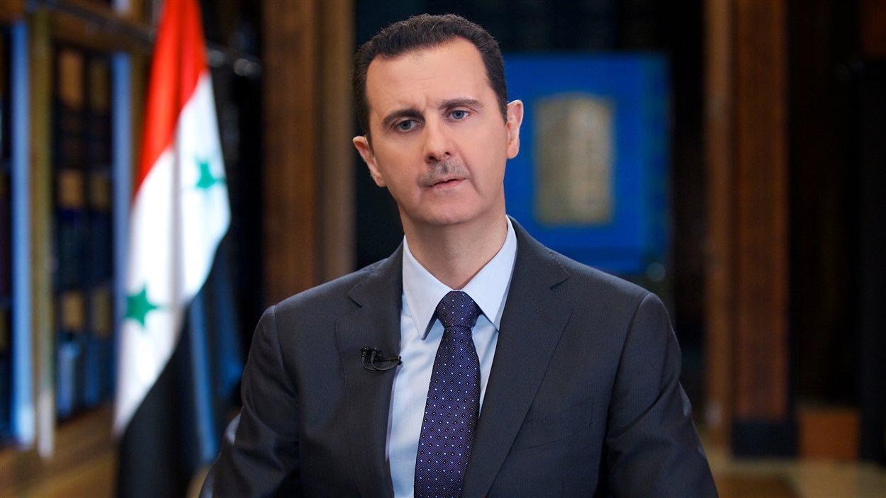 Le président syrien Bachar Al-Assad en entrevue le 25 septembre à Damas avec la télévision vénézuélienne Telesur
