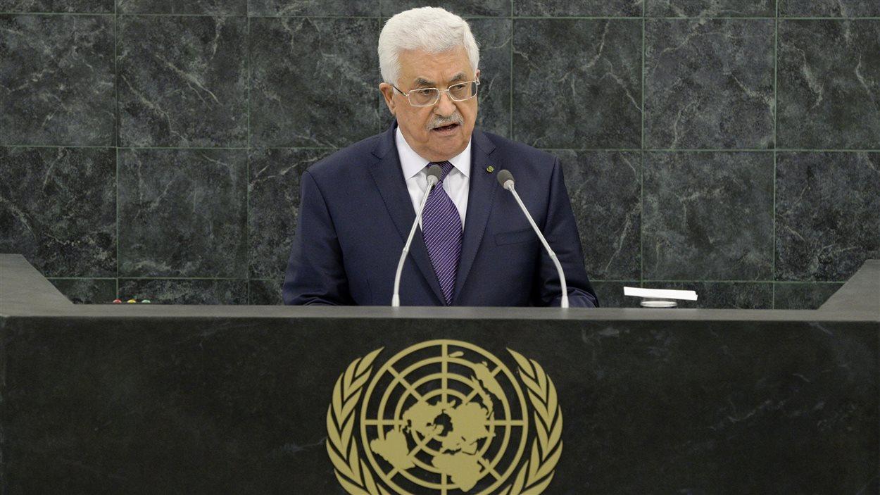 Le président de la Palestine Mahmoud Abbas lors de l'Assemblée générale des Nations unies.