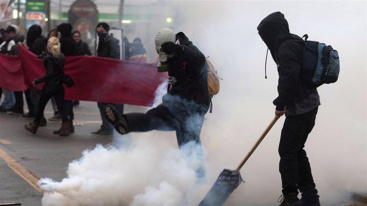 Émeute à Victoriaville le 4 mai 2012.