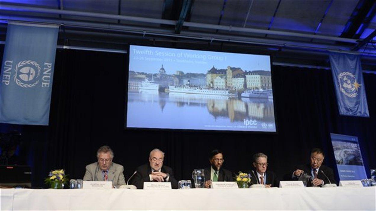 La présentation officielle du rapport s'est faite à Stockholm, en Suède.©SRC/AFP/JONATHAN NACKSTRAND