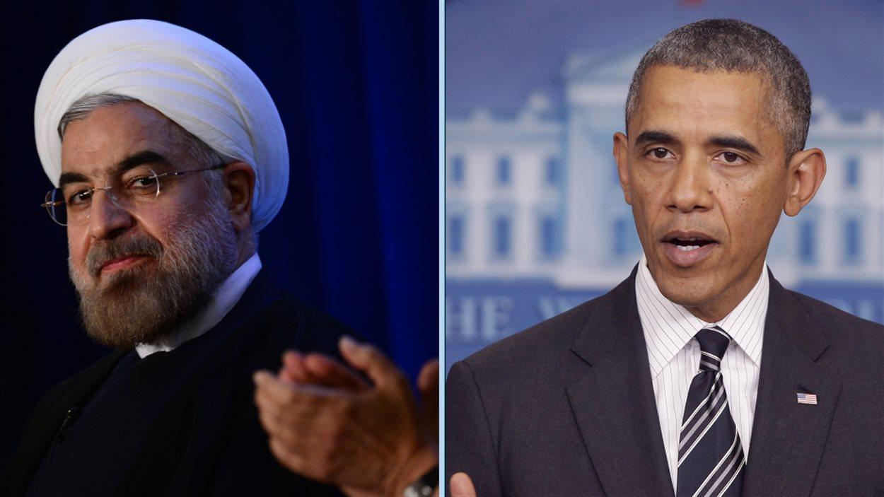 Le président iranien, Hassan Rohani, et le président américain, Barack Obama (montage)