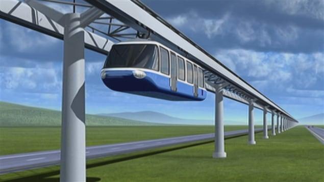 Le projet de monorail de l'entreprise TrensQuébec