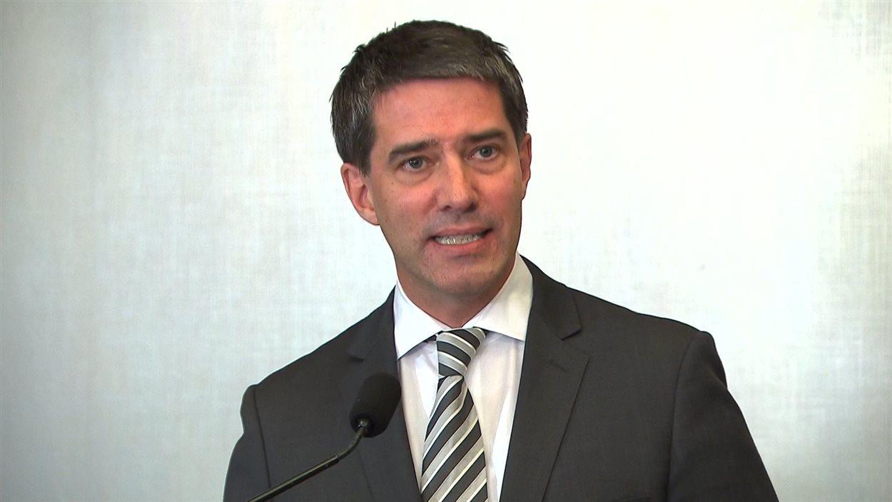 André Boisclair en conférence de presse le 29 septembre 2013