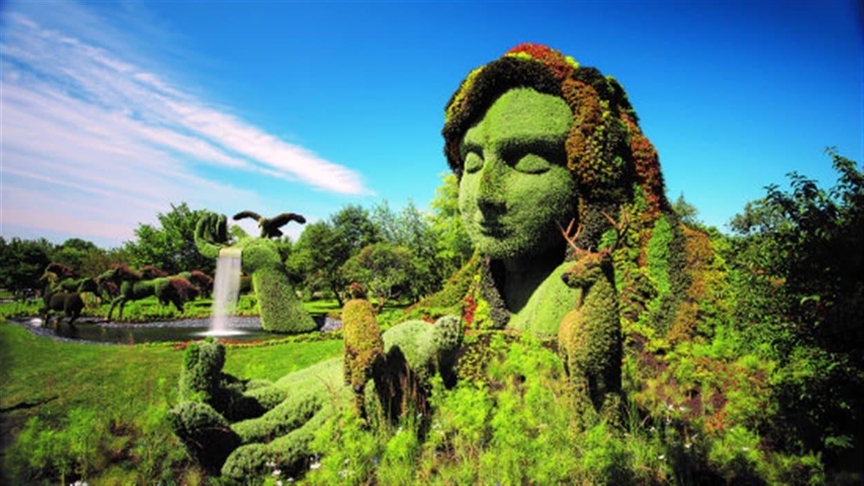 Sculpture des Mosaicultures du Jardin botannique de Montréal