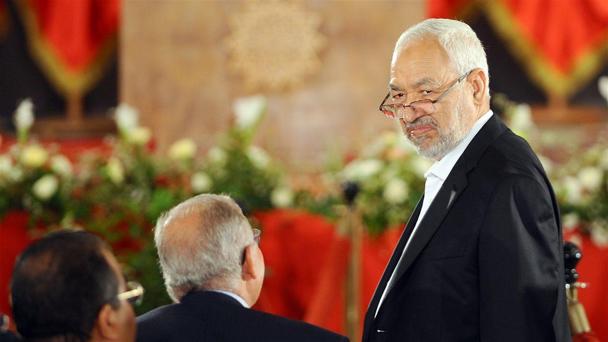 Rached Ghannouchi, chef du mouvement islamiste tunisien Ennahda