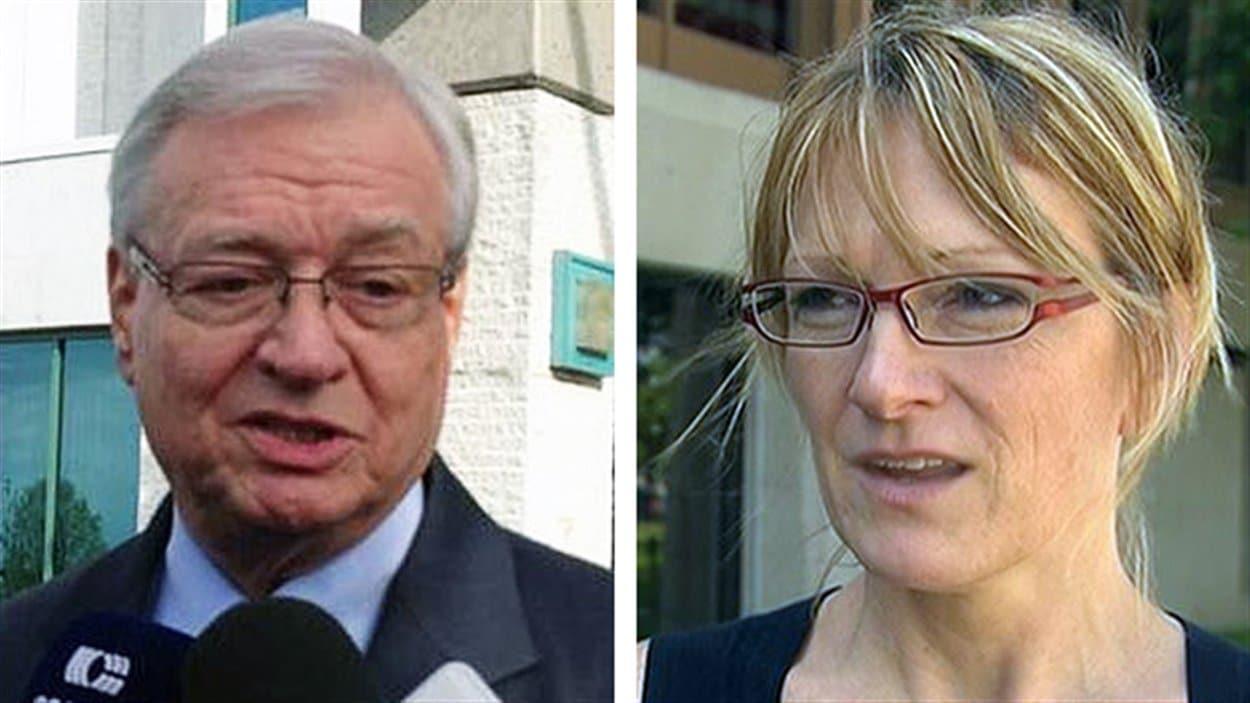 L'ex-maire de Laval Gilles Vaillancourt et la candidate à la mairie Claire Le Bel