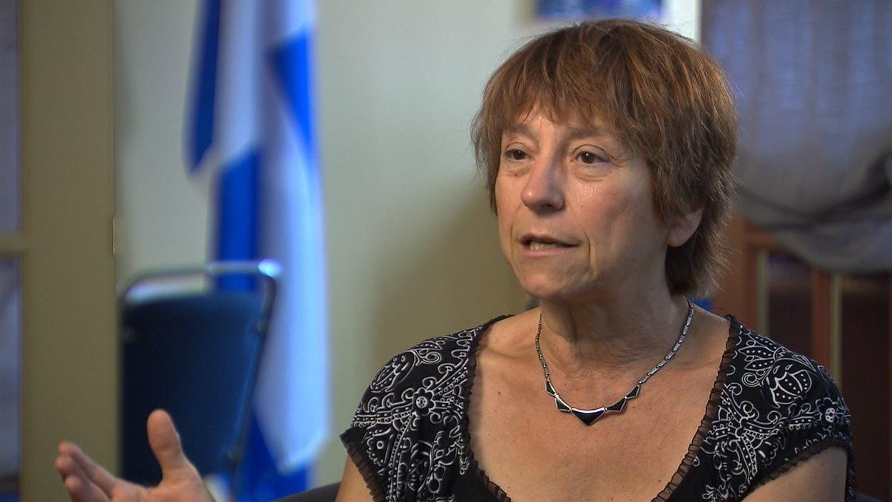 La co-porte-parole de Québec solidaire et députée de Gouin, Françoise David