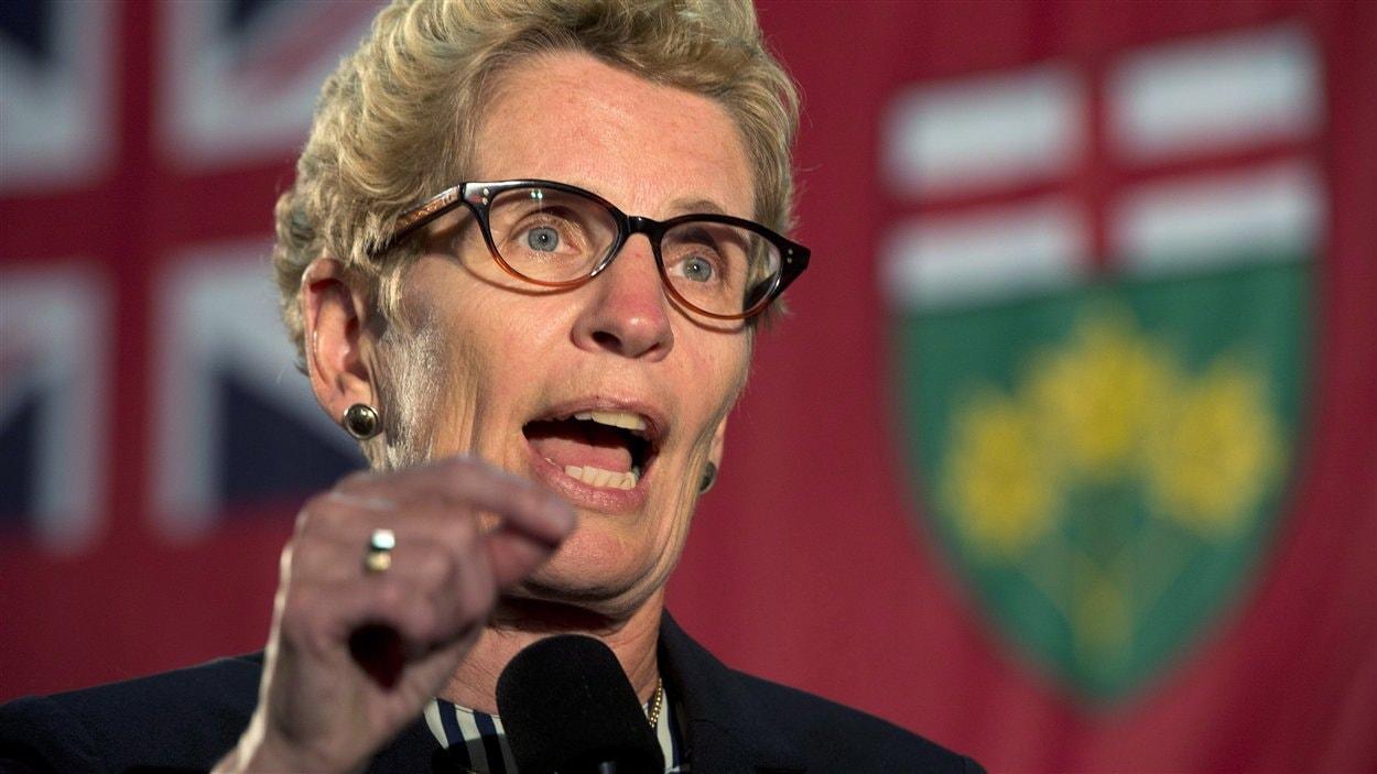 La première ministre de l'Ontario, Kathleen Wynne
