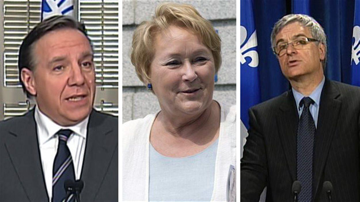François Legault, Pauline Marois et Jean-Marc Fournier