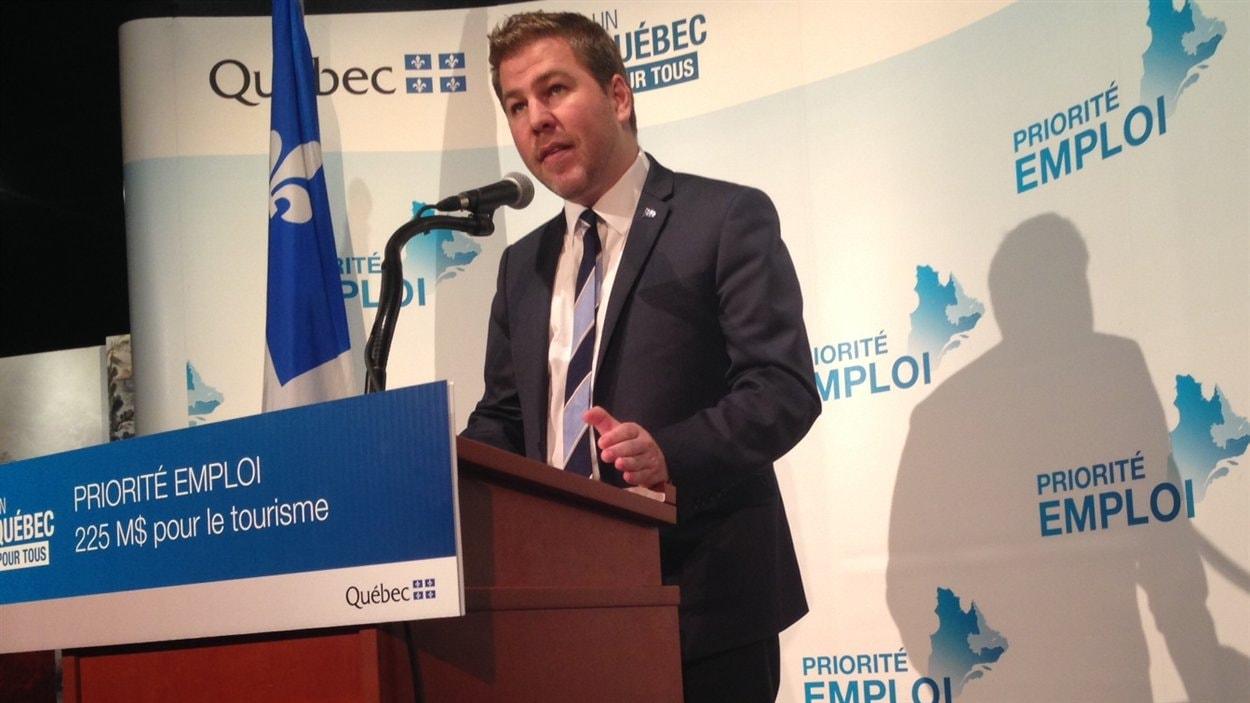 Le ministre du Tourisme Pascal Bérubé