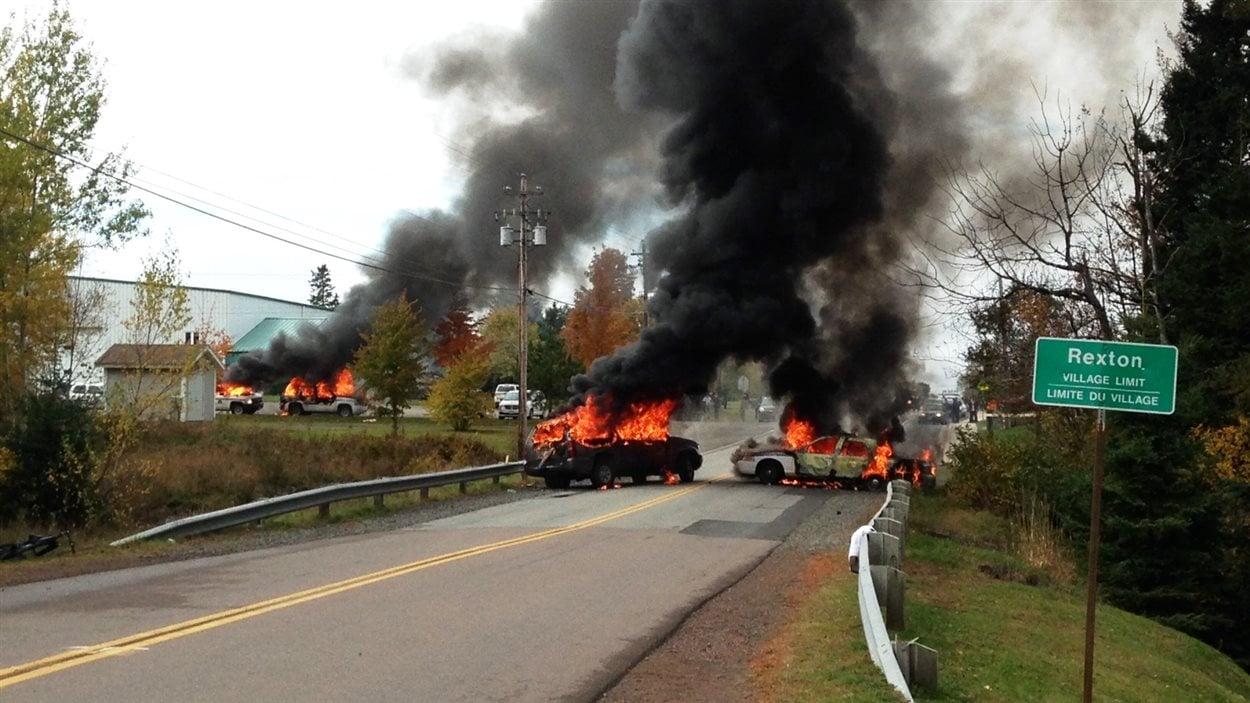 Voitures incendiées à Rexton