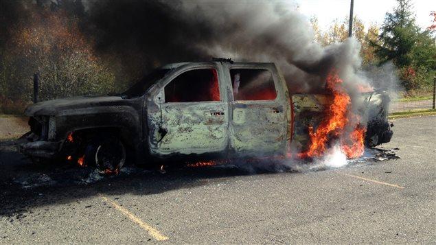 véhicules incendiés