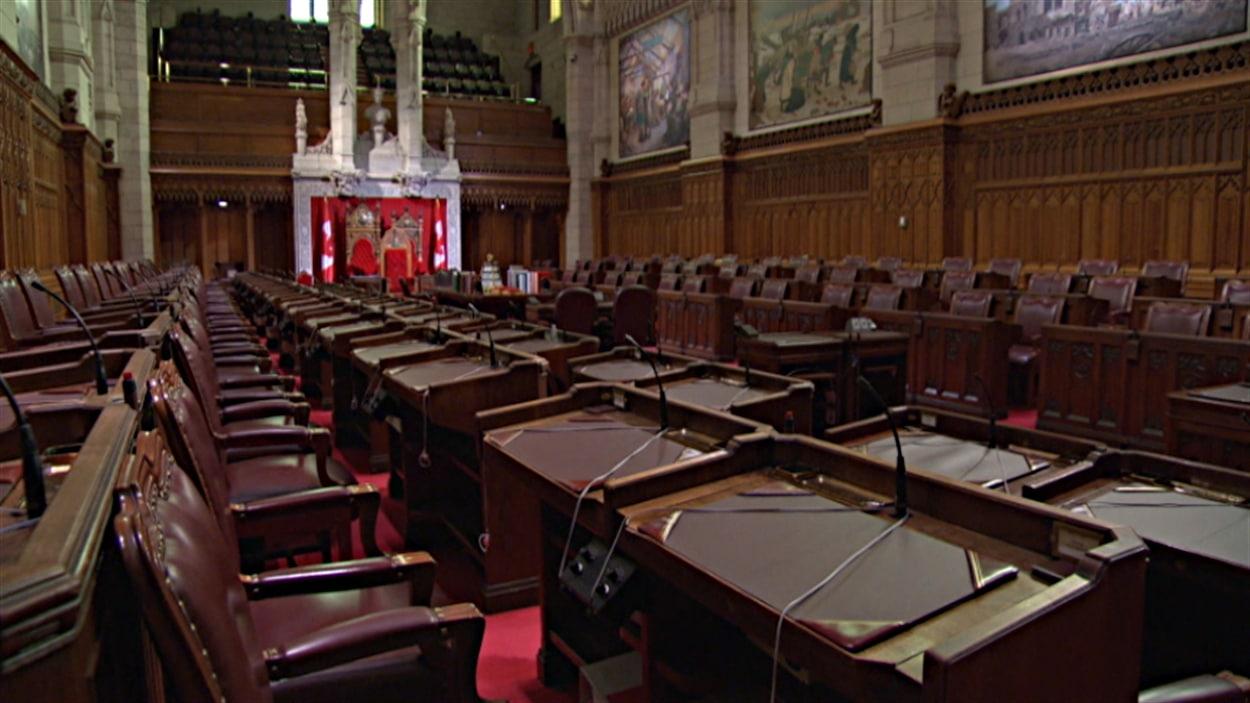 La chambre du Sénat canadien.