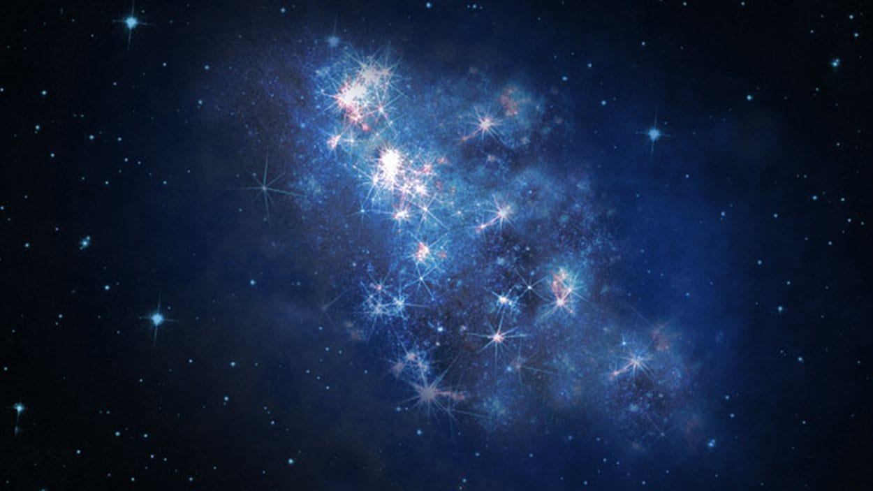 Impression artistique de la galaxie z8_GND_5296.