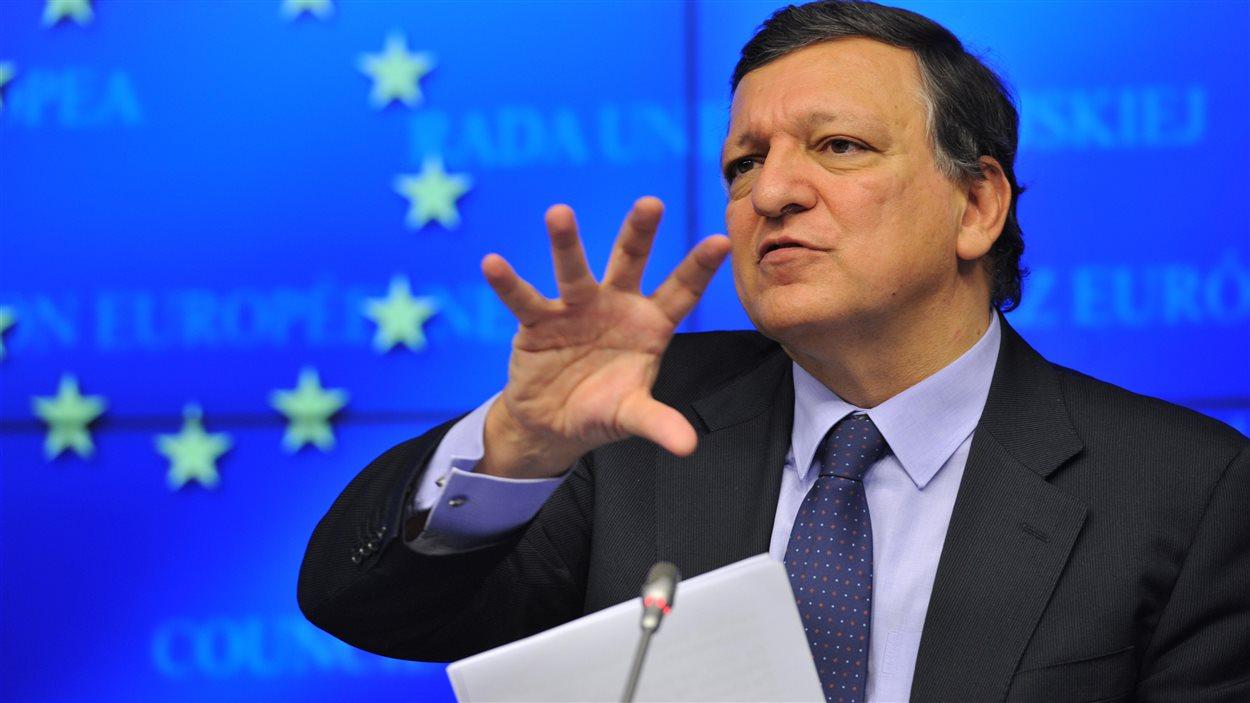 Le président de la Commission européenne, José Manuel Barroso, quelques heures avant le sommet européen à Bruxelles, le 24 octobre 2013
