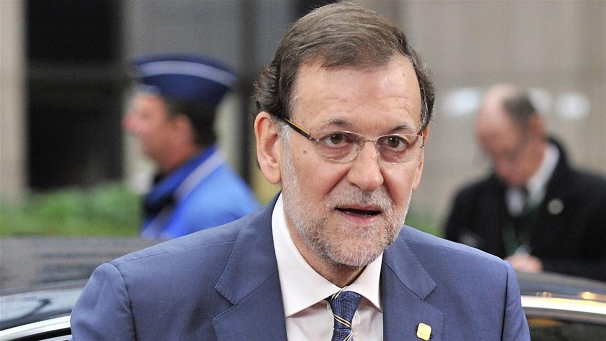 Le chef du gouvernement espagnol, Mariano Rajoy, au deuxième jour du sommet européen à Bruxelles