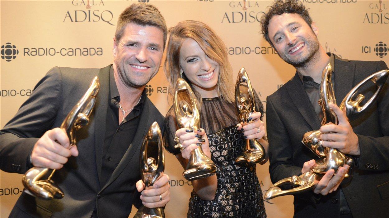 Marc Dupré, Marie-Mai et Louis-Jean Cormier au Gala de l'ADISQ en 2013